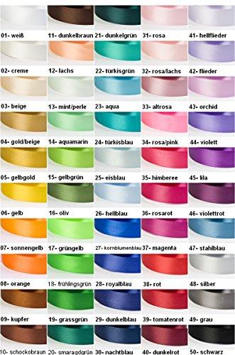 30 Yard-Rolle Satinband, 6 mm breit, Auswahl aus 50 Farben / Farbe: 01