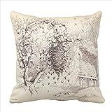 Abbott20Lee Vintage Honey Bee Art Print Pillowcase-20X20 In