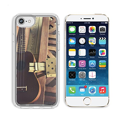 MSD Samsung Note 8 Clear case Soft TPU Rubber Silicone Bumper Snap Cases IMAGE of guitar music acoustic musical string instrument sound classical wood rock classic brown folk art old