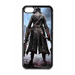 Bloodborne 013 Funda iPhone 5C teléfono celular Caso L6A9SFOV Negro caja de plástico 3D