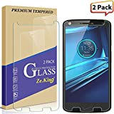 [2-Pack] Moto Droid Turbo 2 Tempered Glass, Moto X Force Screen Protector, Zeking Drop Defence [Anti Scratch][Anti-Fingerprint] Bubble Free, Lifetime Replacement Warranty