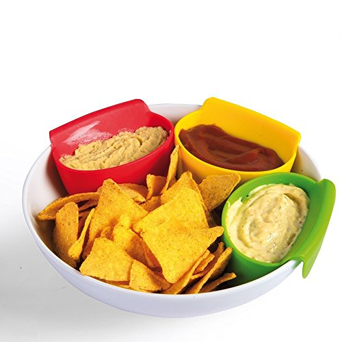 dip clip chip bowl cup car holder 6 colorful plastic set sauce plate mini cups dipping holders for kids salsa bowls dish dips clips for tomato salt sugar