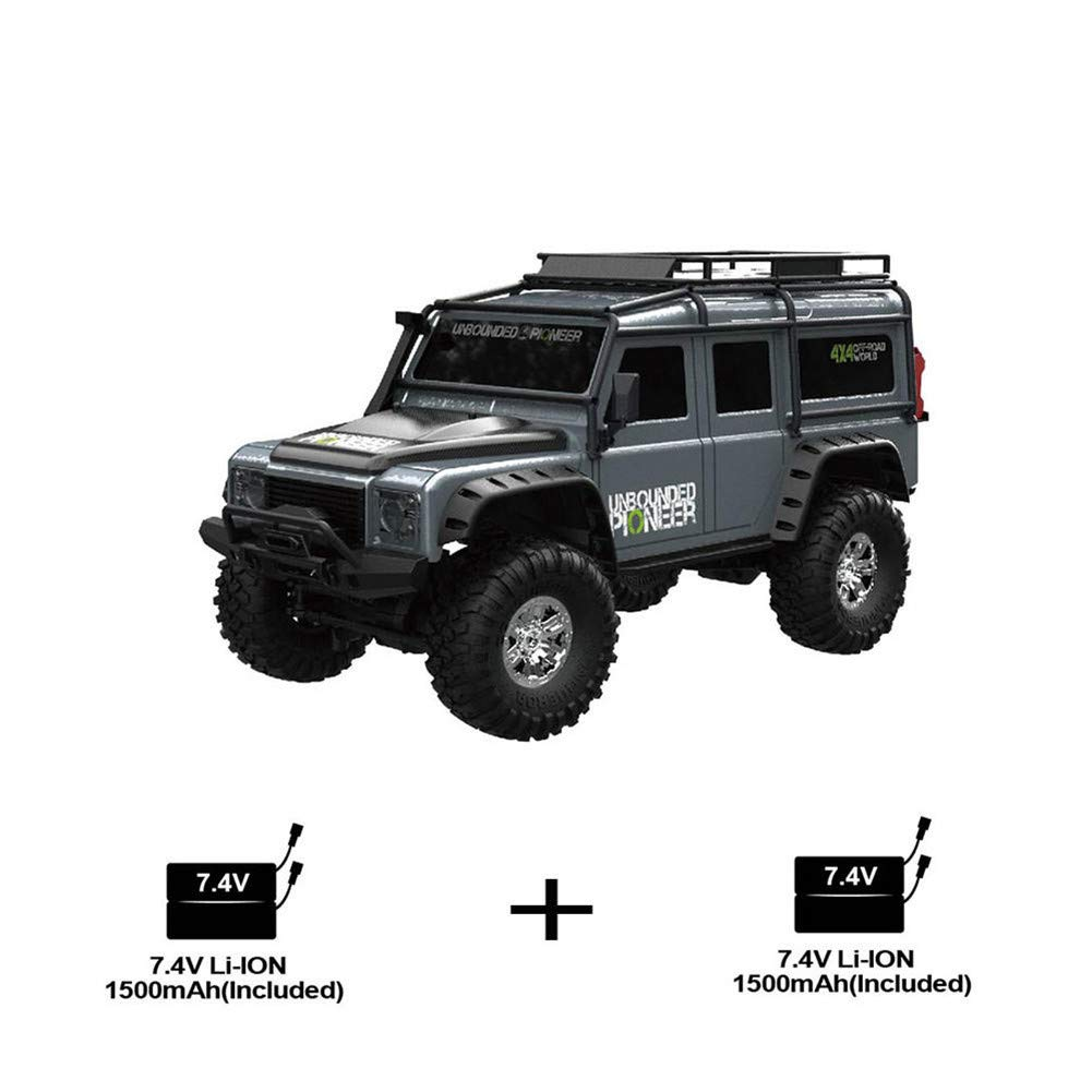 Yiwa 1//2 Bater/ía HB ZP1001 1//10 2.4G 4WD RC Rally Control proporcional del veh/ículo Retro Veh/ículo Luz LED Modelo RTR Juguetes al Aire Libre Gris Doble bater/ía