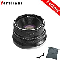 7artisans 25mm F1.8 Manual Fixed Lens for M4/3 mount Cameras Panasonic G1 G2 G3 G4 G5 G6 G7 GF1 GF2 GF3 GF5 GF6 GM1 Olympus EMP1 EPM2 E-PL1 E-PL2 E-PL3 E-PL5-Black