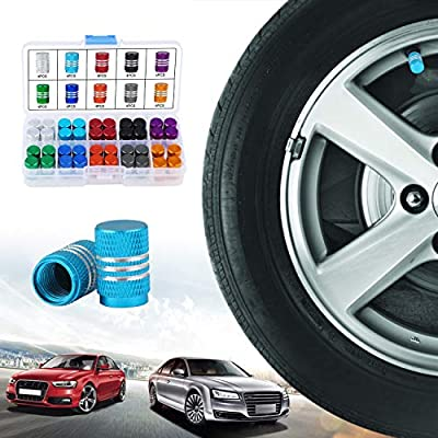 OCR 40PCS Tire Stem Valve Caps Aluminium Car Dustproof Caps Tire Wheel Stem Air Valve Caps: Automotive