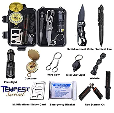 Tempest Emergency Survival Kit 11 in 1 Professional Multi Tools Outdoor Gear from Dongguan City Risen Medical Products Co., Ltd.