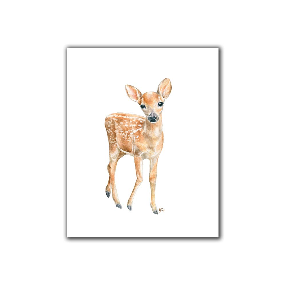 amazon com deer nursery art print unframed baby deer wall art childrens room kids decor forest animal fawn watercolor print handmade deer nursery art print unframed baby deer wall art childrens room kids decor forest animal fawn watercolor print