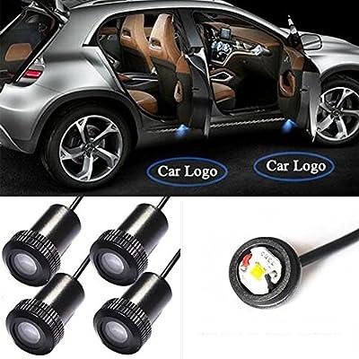 Ankia - Juego de 2 lámparas para puerta de coche con iluminación ...
