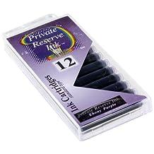 12 Pack Universal Fountain Pen Cartridges - Ebony Purple