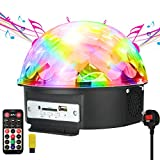 GUSODOR Disco Lights LED Stage Light Crystal Magic Ball Lamp MP3 Player Sound Activated Auto Flash Rotating RGB Strobe Light for Wedding Home Birthday Party KTV Club DJ Pub Show