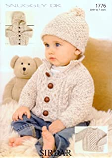 e84d23aa81b7 King Cole Double Knitting Pattern Baby Hooded or Collared Cardigan ...