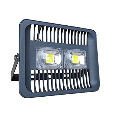 30W, Warm White : 100W LED Flood Light 30W 50W Projector Waterproof IP66 230V 220V Flood Lamp Outdoor Spotlight for Gargen Garage Wall Lamp