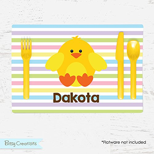 Easter Chick Personalized Placemat for (Chick Personalized Placemat)