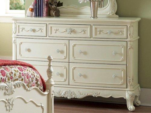 Homelegance Chest - Homelegance Cinderella White Double Dresser in Ecru Finish