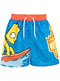 The Simpsons Boys' Bart Swim Shorts Size 6 Blue