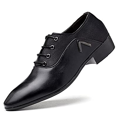 b6edf4476 black solid color men's leather shoes low heel lace-up leather shoes,  business casual
