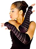 Black & Charcoal Stripe Arm Warmer Sexy Fashionable Fingerless Arm Warmers Thumb Hole KD dance New York Armwarmers Not Like It Matters Made In USA Loungewear Laidback Dancewear
