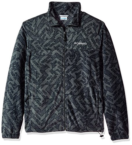 Columbia Men's Cascades Explorer Full Zip Fleece Jacket, Grill Galicut Grey, X-Large by Columbia