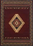 United Weavers of America Tucson Manhattan Rug Collection, 1' 11'' by 7' 4'', Burgundy