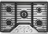 Appliances : GE Profile PGP9030SLSS 30 Inch Natural Gas Sealed Burner Style Cooktop with 5 Burners in Stainless Steel