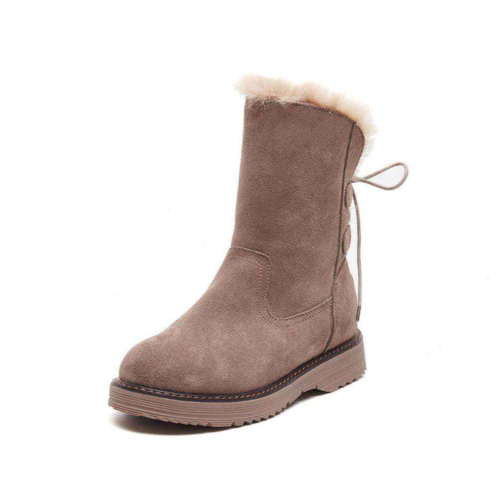 YSFU Stiefel Stiefel Damen Stiefeletten Winterstiefel Der Weiblichen Stiefel Stiefel Der Schneestiefel Dicke Stiefel Der Frauen 284345