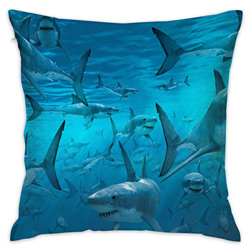 Pillowcase Cushion Covers Custom Shark Wallpaper Personalized Mother's Gifts Wedding Keepsake Throw Pillow Cover