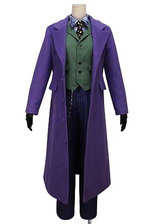 <b>Amazon</b>.com: Cosonsen Batman The Dark Knight <b>Joker Costume</b> Batman ...