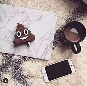 Emoji Universe: Poop Emoji Stuffed 2600mAh 5V/1.5A Portable Charger (Poop stuff Power Bank)By JACK CHLOE