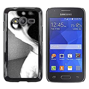 Exotic-Star ( Dark Scary Monster Black White ) Fundas Cover Cubre Hard Case Cover para Samsung Galaxy Ace4 / Galaxy Ace 4 LTE / SM-G313F