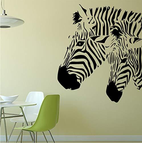 hwhz 43 X 48 cm Animal Wall Sticker Zebra Pattern Removable Art Mural Vinyl Wall Decals Stripe Home Decor for Kids Room Livingroom -