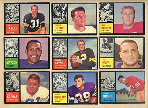 1962 Topps Football Part Set Lot 91 Diff VG-EX/EX Layne 366630 Kit Young Cards