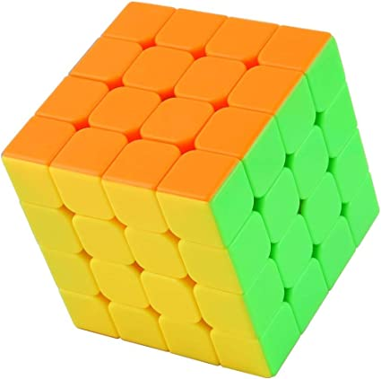 Shanbuyers 4x4 Rubik's High Speed and Smooth Stickerless Brainstorming Magic Puzzle Cube -Anti Stress for Adults and Kids- Multi Color