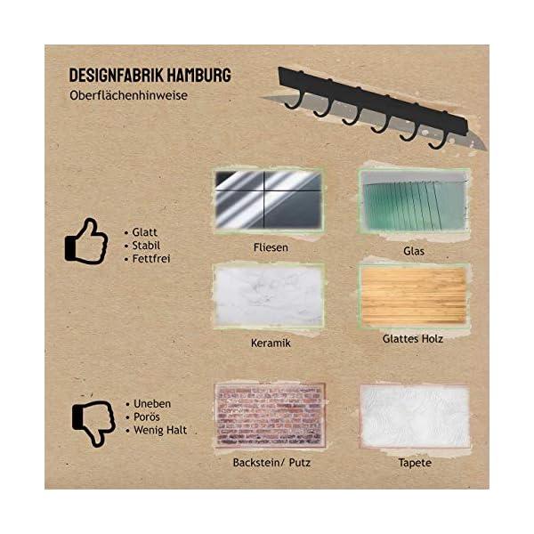 Designfabrik Hamburg | Hakenleiste Küchenleiste selbstklebend Hängeleiste Stange für Küchenutensilien | Küchenhalterung…