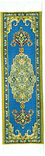Oriental Carpet Bookmarks Agra - Authentic Woven Carpet - RUG BOOKMARKS - Beautiful, Elegant, Woven Cloth Bookmarks! Best Gifts for Men Women Adults Teens Teachers & Librarians!