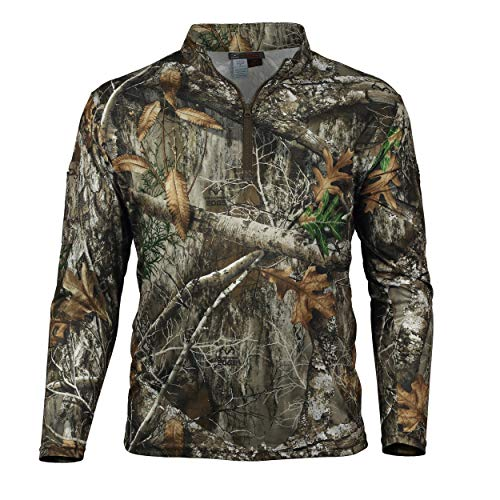 - Gamehide ElimiTick Tactical Style Quarter Zip Long Sleeve Shirt (X-Large, Realtree Edge)