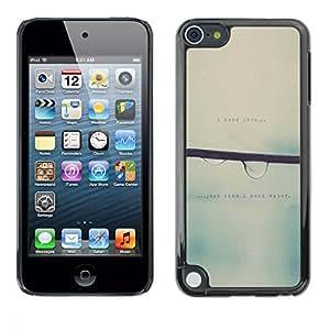 rígido protector delgado Shell Prima Delgada Casa Carcasa Funda Case Bandera Cover Armor para Apple iPod Touch 5 /Love Blurry Sweet Rain Focus/ STRONG