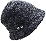 August Hats Women's Cloche with Silver Butons One Size Black, White
