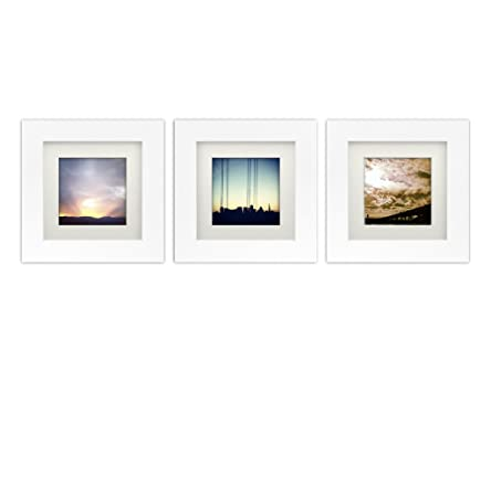 Tiny Mighty Frames Natural Wood 6x6 Square Photo Frame 4x4 Matted