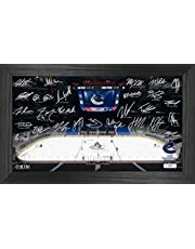 NHL Team Signature Rink - Authentic NHL Memorabilia - Framed Hanging Wall Art Decoration Display