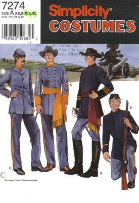 Amazon com: Civil War Reenactment Uniform Costume Pattern