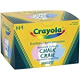 Crayola 144 Coloured Sanigene Dustless Chalk, School and Craft Supplies, Teacher and Classroom Supplies, Gift for Boys and Girls, Kids, Ages 3,4, 5, 6 and Up,  Arts and Crafts