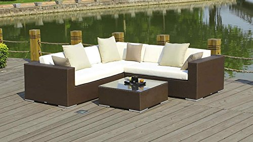 Rattan Gartenmobel Set ~ Amazon tlg poly rattan gartenmöbel set gartengarnitur