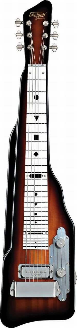 Gretsch G5700 Electromatic Lap Steel with White Plastic Fretboard - Tobacco