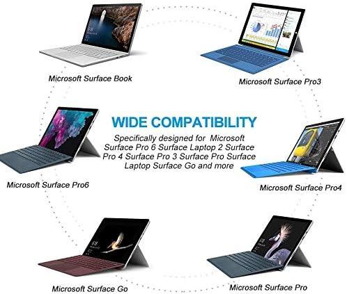 Pro 5 Surface Go de repuesto para Microsoft Surface Pro Charger Surface Pro 3 tipo C Newding 15 V USB C Pro 6 Surface Book Tablet Cable adaptador de fuente de alimentaci/ón 【Solo cable】 Pro 4