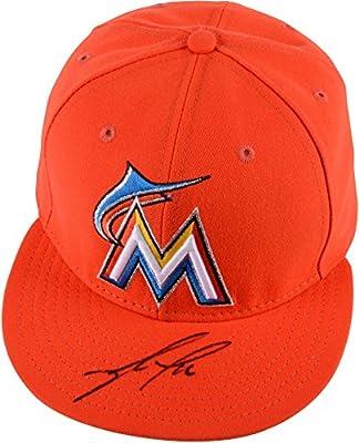 Jose Fernandez Miami Marlins Autographed Orange Cap - Autographed Hats