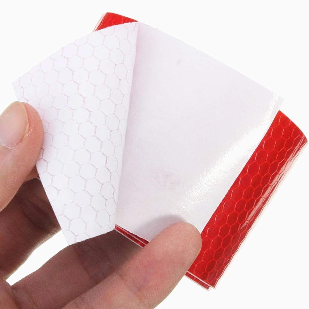 3m Rosso Bianco a nido dape strisce riflettenti impermeabile auto-rimorchio nastro riflettente nastro riflettente per rimorchi di camion di allarme auto nastro di cautela dei 2 pc 5cm