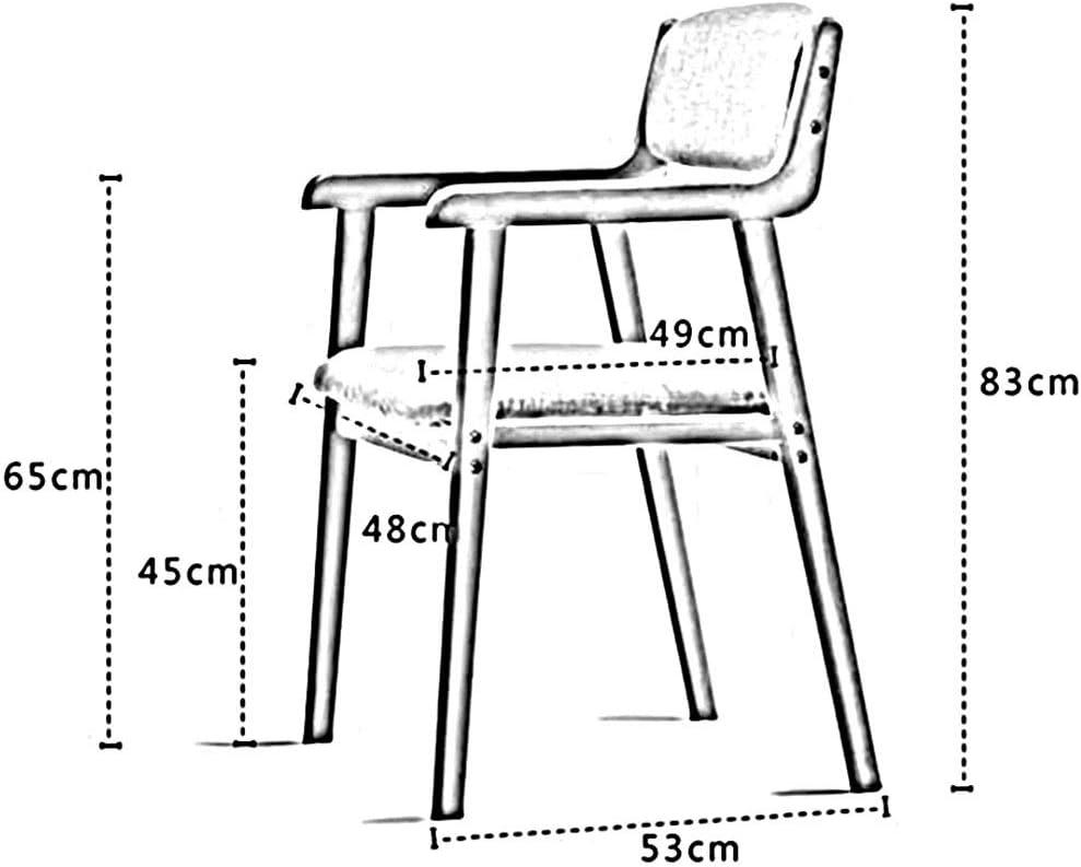 Dall Chaise De Salle À Manger Bois Massif Chaise De Dossier Décoration D'intérieur Fauteuil Lounge Hauteur D'assise 45cm (Color : Gray) Gray