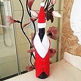 Aliciashouse Bouteille de vin rouge de Noël Sac du Père Noël Décoration de Noël -B