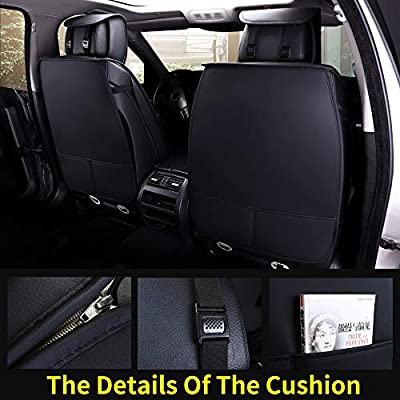 Aierxuan 2 Car Seat Cover Front Seat with Waterproof Leather, Universal Fit for Most Sedan SUV and Truck (2 PCS Front, Black): Automotive