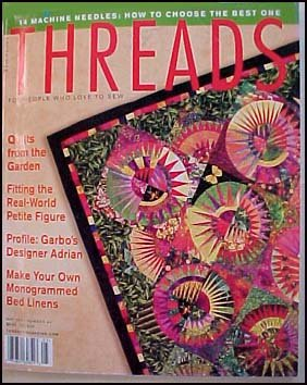 Threads Magazine May 2001 Number 94 Fitting the Petite Figure, Monogrammed Bed Linens (Monogrammed Petit Fours)